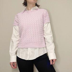 Vintage Purple Sweater Short Sleeve Y2K